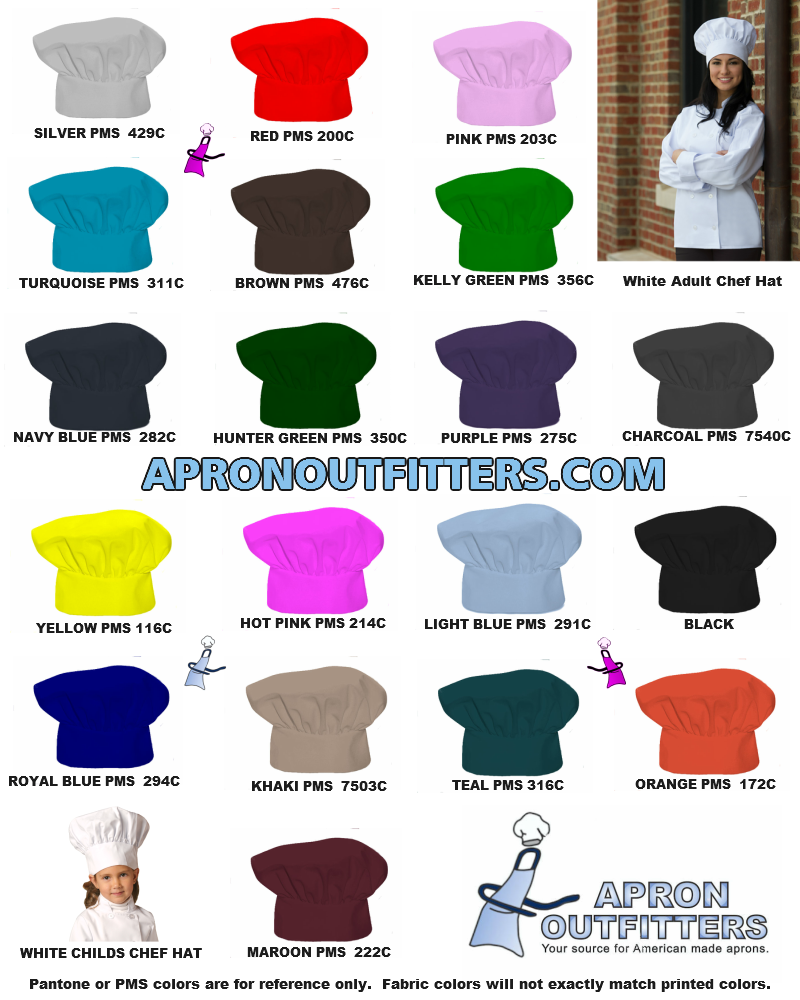 American made apron color charts uniform vests chef hats nvjuhfo Images