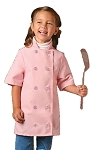 Childs chef coat - short  sleeve - Pink