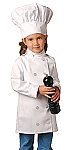 Child Chef Coat and chef hat combo, Long sleeve white