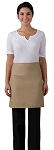 Half Bistro apron with inset pocket.