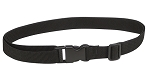 Black webbing belt.