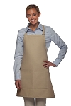 Bib Apron with 2 pockets, 28 inches long,