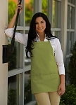 Sage Green Bib Apron - 3 pockets