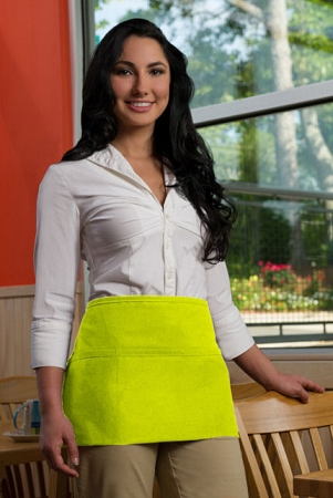 Lime Green Waist Apron 3 Pockets