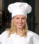 Deluxe Chef Hat - White only.