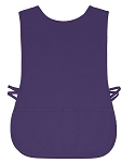 Golf Caddy Bib in polyester twill fabric. Purple shown.