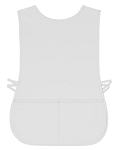 White polyester mesh aprons.