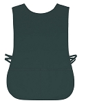 Hunter green polyester mesh aprons.