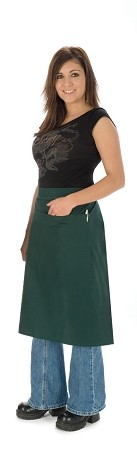 This 3/4 bistro apron is available in 20 colors including pink!