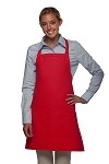 Bib Apron with 2 pockets, 28 inches long.