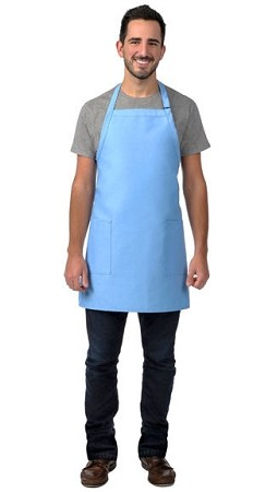 2 pocket Bib Apron. Available in 20 colors.