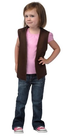 Childs vest with No pockets. - 20 colors available including pink!