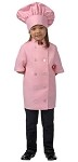 Childs chef coat and chef hat- short  sleeve - Pink