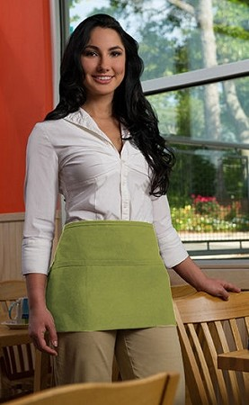 Sage green Waist Apron - 3 Pockets