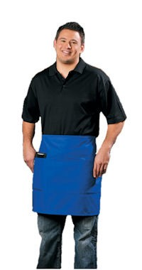 Half Bistro apron with three pockets.