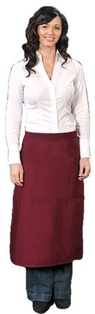 Full Bistro apron with 3 pockets.