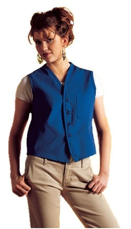 Vest without pocket and no buttons shown