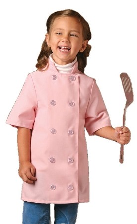 Childs chef coat. Short sleeve,